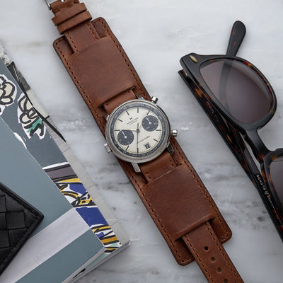 The Newman Bund Watch Strap In Brown alternate image.