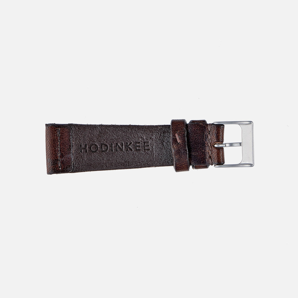 Dark Brown Calfskin Watch Strap