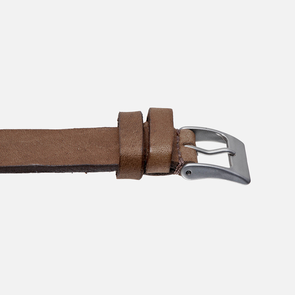 Dark Beige Calfskin Watch Strap