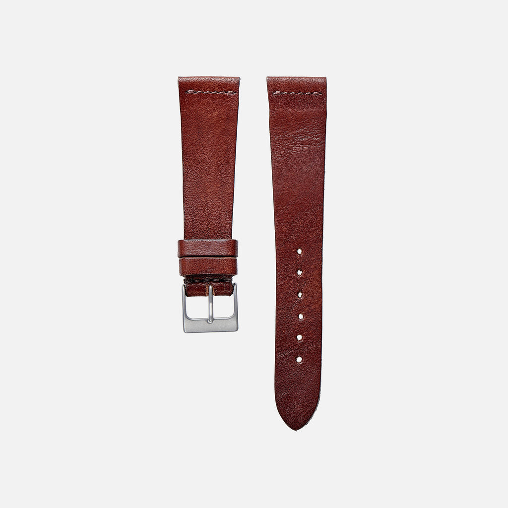 Dark Clay Calfskin Watch Strap