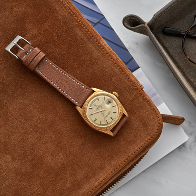 The Reid Watch Strap In Light Brown alternate image.