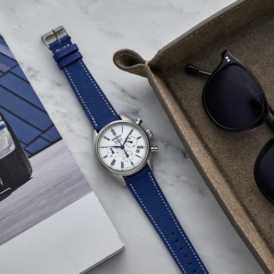 The Reid Watch Strap In Royal Blue alternate image.