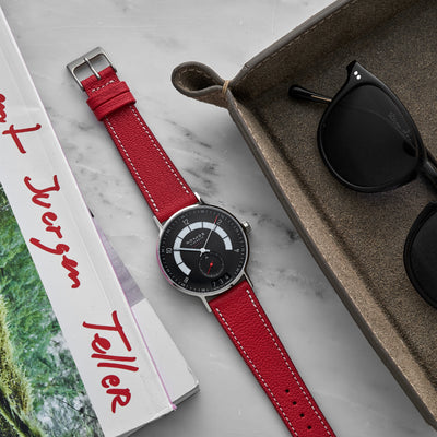 The Reid Watch Strap In Red alternate image.