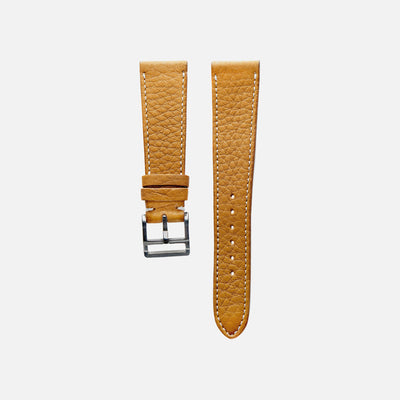 Textured Light Brown Calfskin Watch Strap
