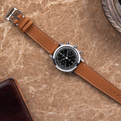 Textured Light Brown Calfskin Watch Strap alternate image.