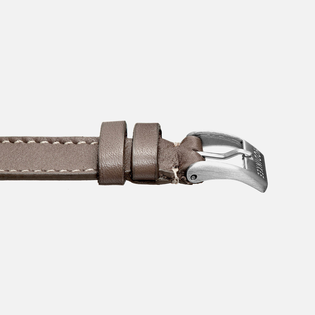 Smooth Taupe Calfskin Watch Strap
