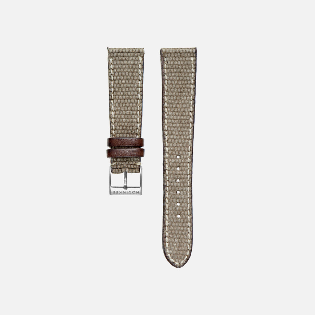 Canvas And Leather Watch Strap