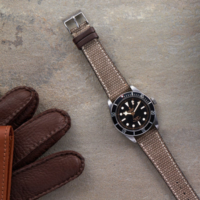 Canvas And Leather Watch Strap alternate image.