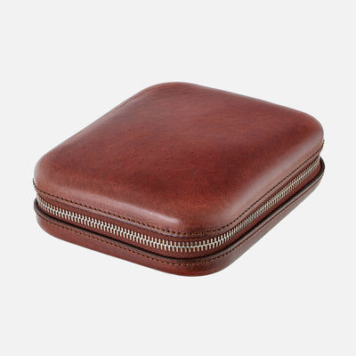 Moulded Oak-Tanned Leather Case For Four Watches