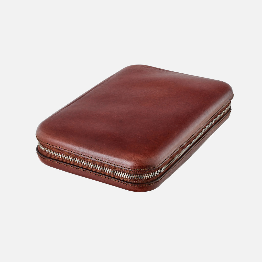 Moulded Oak-Tanned Leather Case For Eight Watches