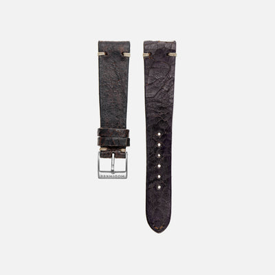 Cracked Dark Brown Leather Watch Strap