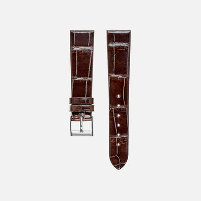 Dark Brown Crocodile Watch Strap