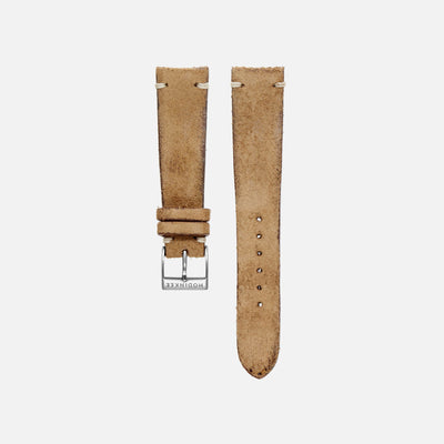 Distressed Beige Leather Watch Strap