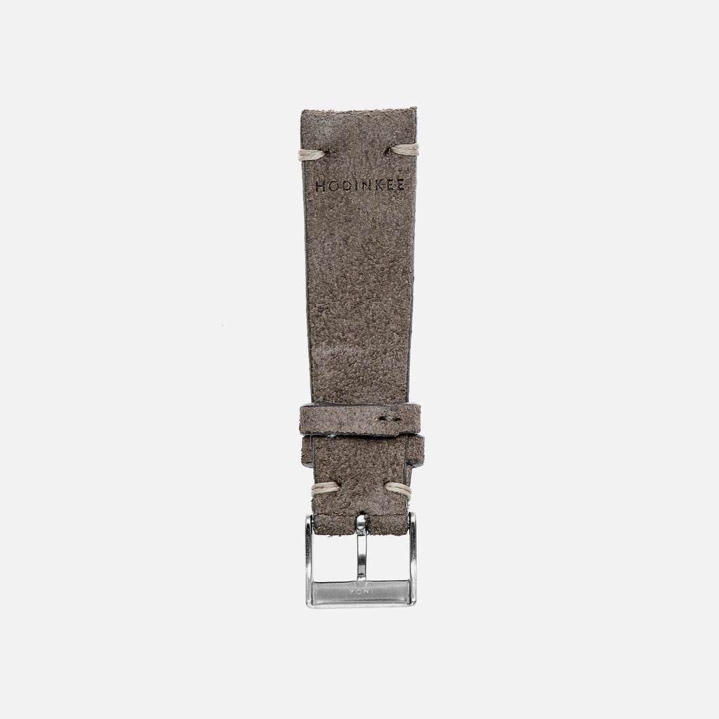 Distressed Grey Leather Watch Strap