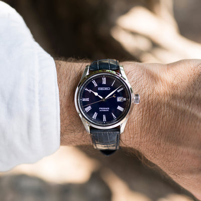 Seiko Presage Blue Enamel Limited Edition alternate image.