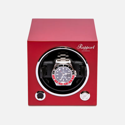 Evo Watch Winder In Crimson Red