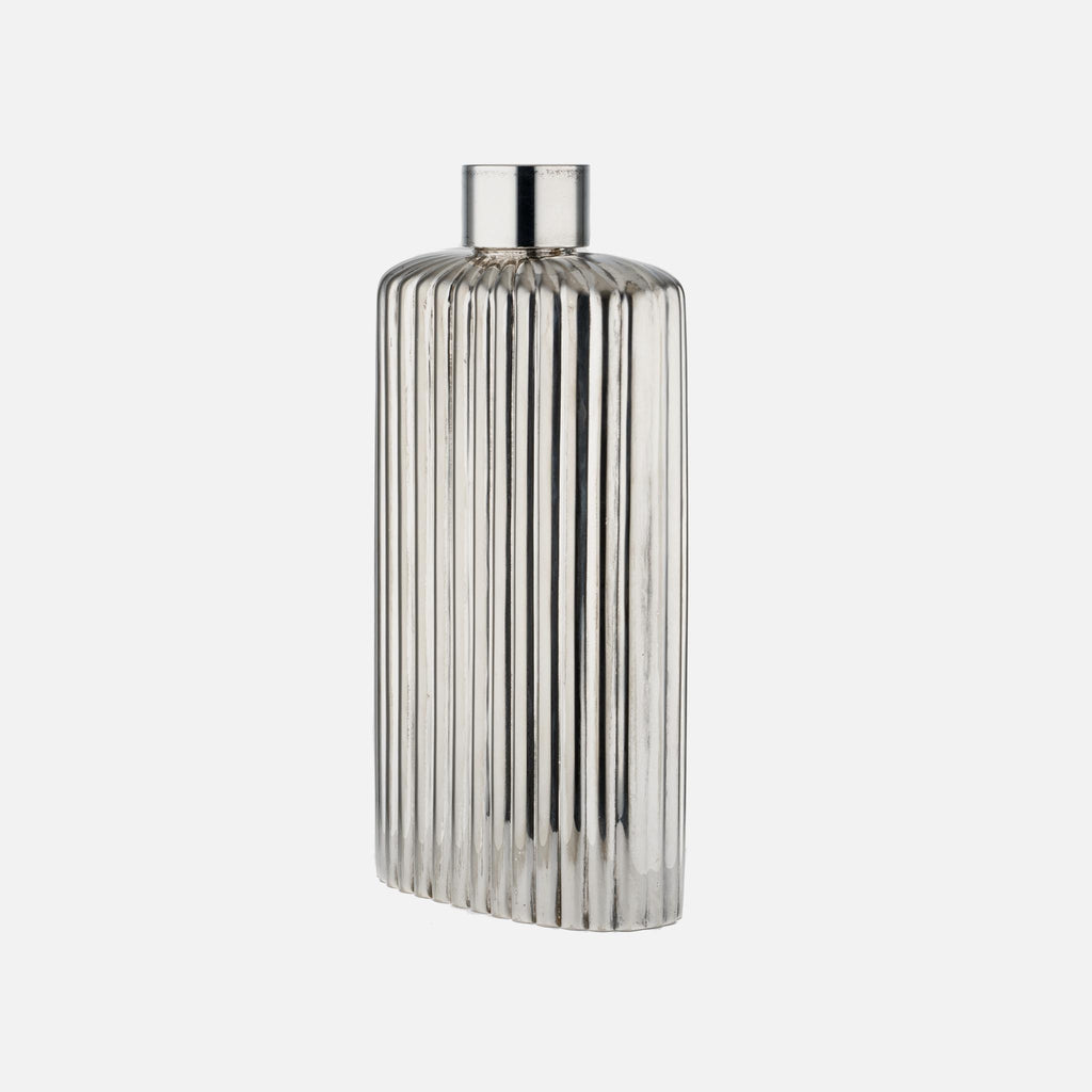 1970s Christian Dior Oversized Silver-Plated Flask