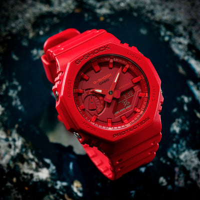 G-SHOCK GA2100-4A In Red alternate image.