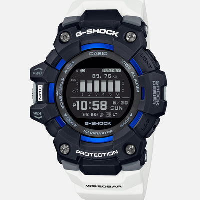 G-SHOCK Move GBD100-1A7 With Blue Accents And White Strap