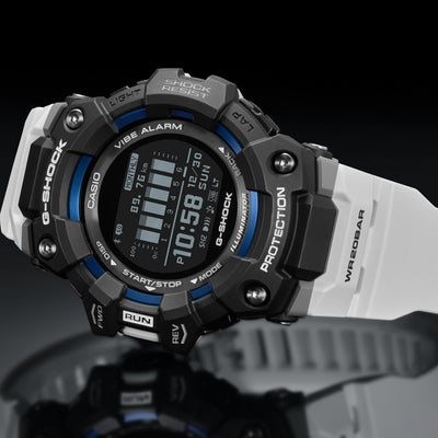 G-SHOCK Move GBD100-1A7 With Blue Accents And White Strap alternate image.