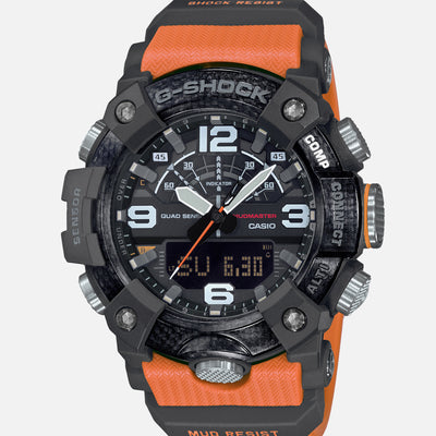 G-SHOCK GGB100-1A9 Master Of G Mudmaster With Carbon Bezel And Orange Accents