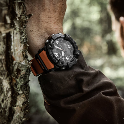 G-SHOCK GGB100-1A9 Master Of G Mudmaster With Carbon Bezel And Orange Accents alternate image.