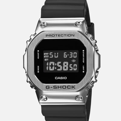 G-SHOCK GM5600-1 With Stainless Steel Bezel And Resin Strap