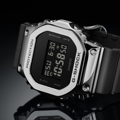 G-SHOCK GM5600-1 With Stainless Steel Bezel And Resin Strap alternate image.