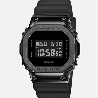G-SHOCK GM5600B-1 With Black IP-Coated Stainless Steel Bezel And Resin Strap