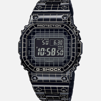 G-SHOCK GMWB5000CS-1 'Full Metal' Black IP-Coated Stainless Steel With 'Grid Tunnel' Pattern