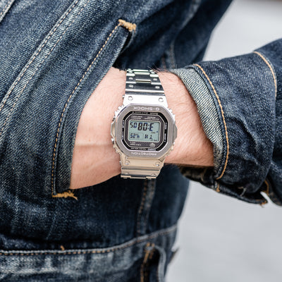 G-SHOCK GMWB5000D-1 'Full Metal' In Stainless Steel With Bracelet alternate image.