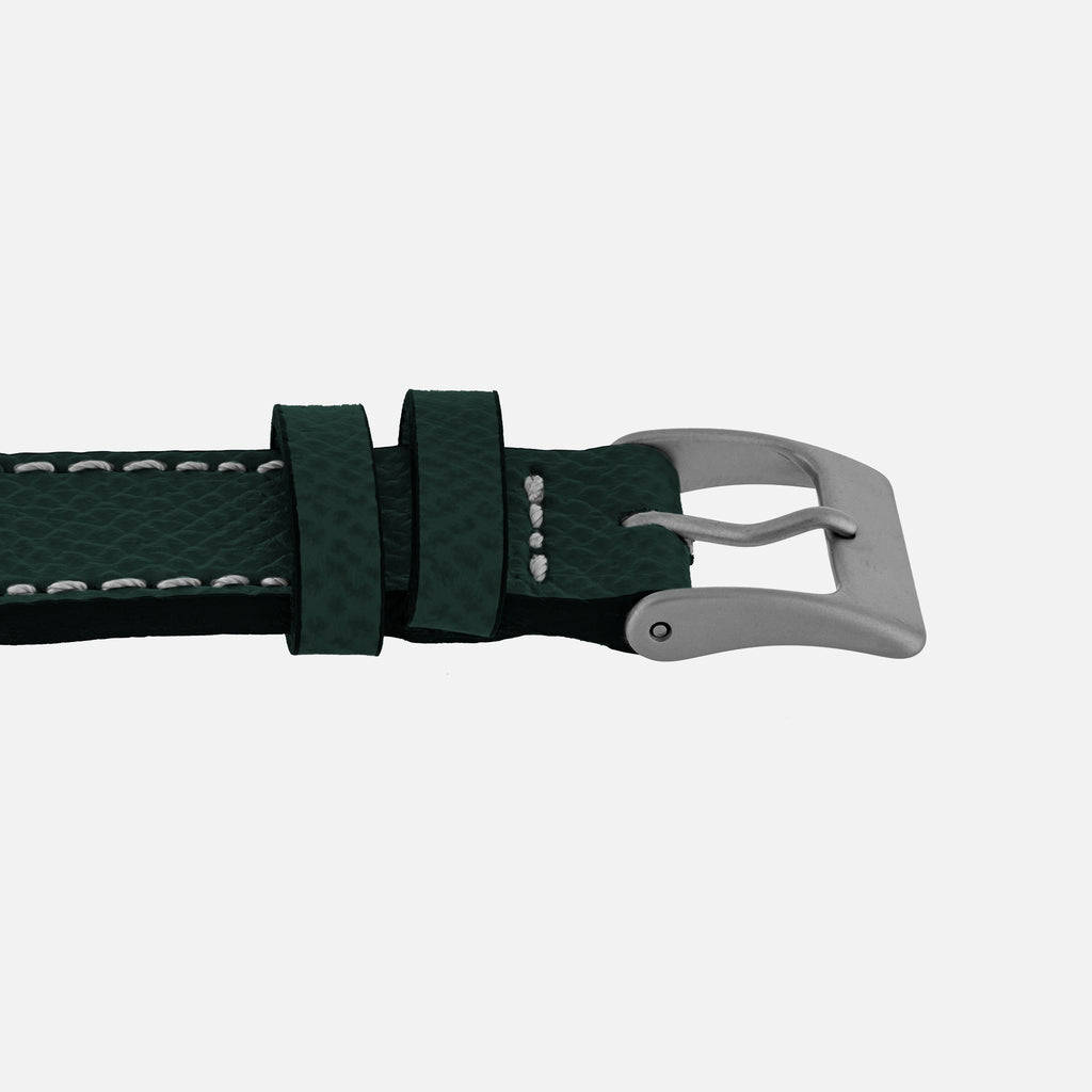 Textured Hunter Green Calfskin Watch Strap