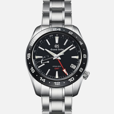 Grand Seiko Spring Drive GMT SBGE253 Ceramic Bezel In Black