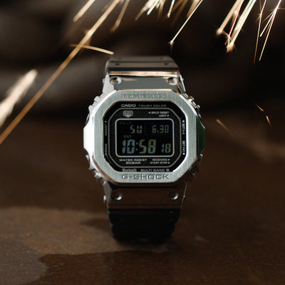 G-SHOCK GMWB5000-1 'Full Metal' In Stainless Steel With Resin Strap alternate image.