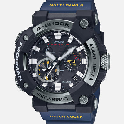G-SHOCK GWFA1000-1A2 Master Of G Frogman With Analog Dial And Blue Strap