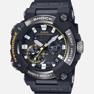 G-SHOCK GWFA1000-1A Master Of G Frogman With Analog Dial And Black Strap