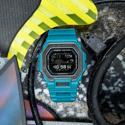 G-SHOCK G-LIDE GBX100-2 With Teal Strap alternate image.