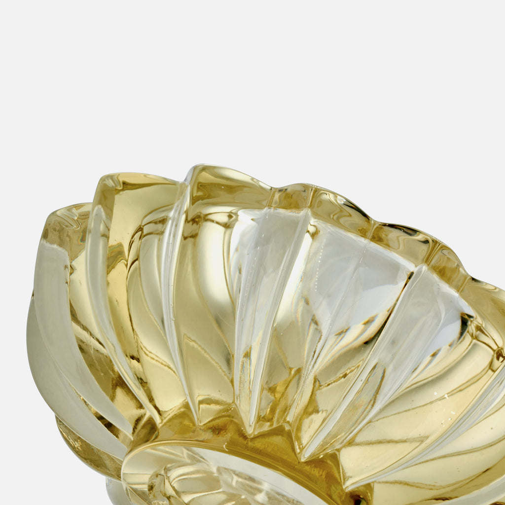 1960s Citrine-Colored Glass Bowl