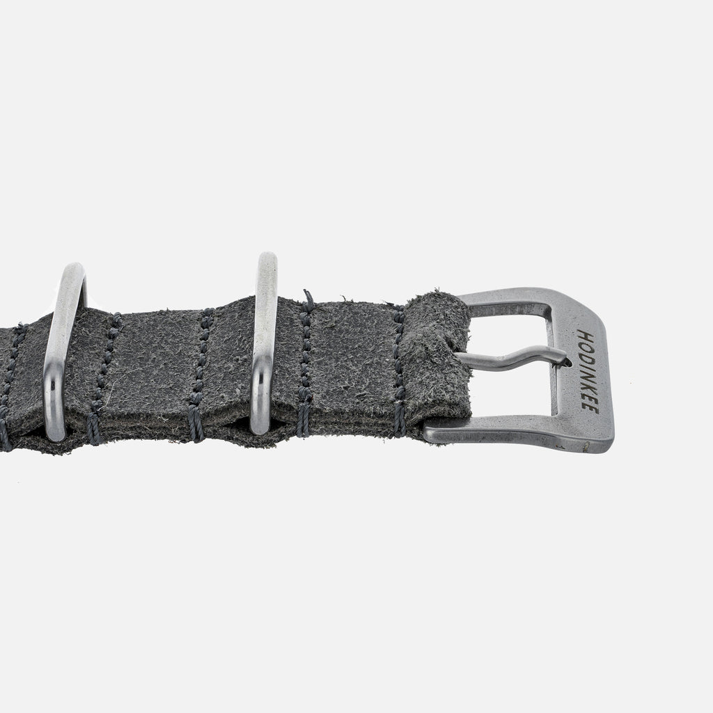 Distressed Grey Leather NATO Watch Strap