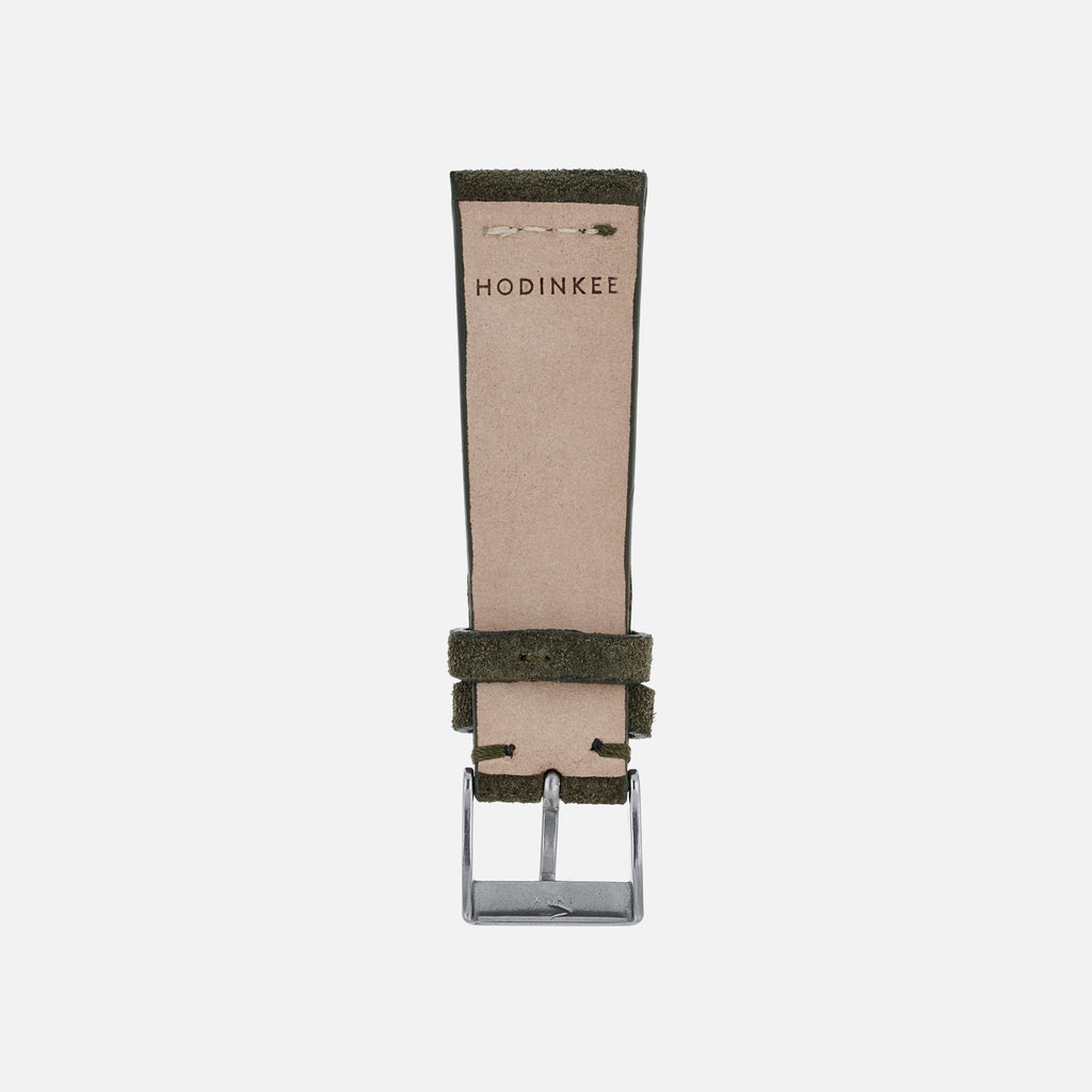Olive Green Suede Watch Strap