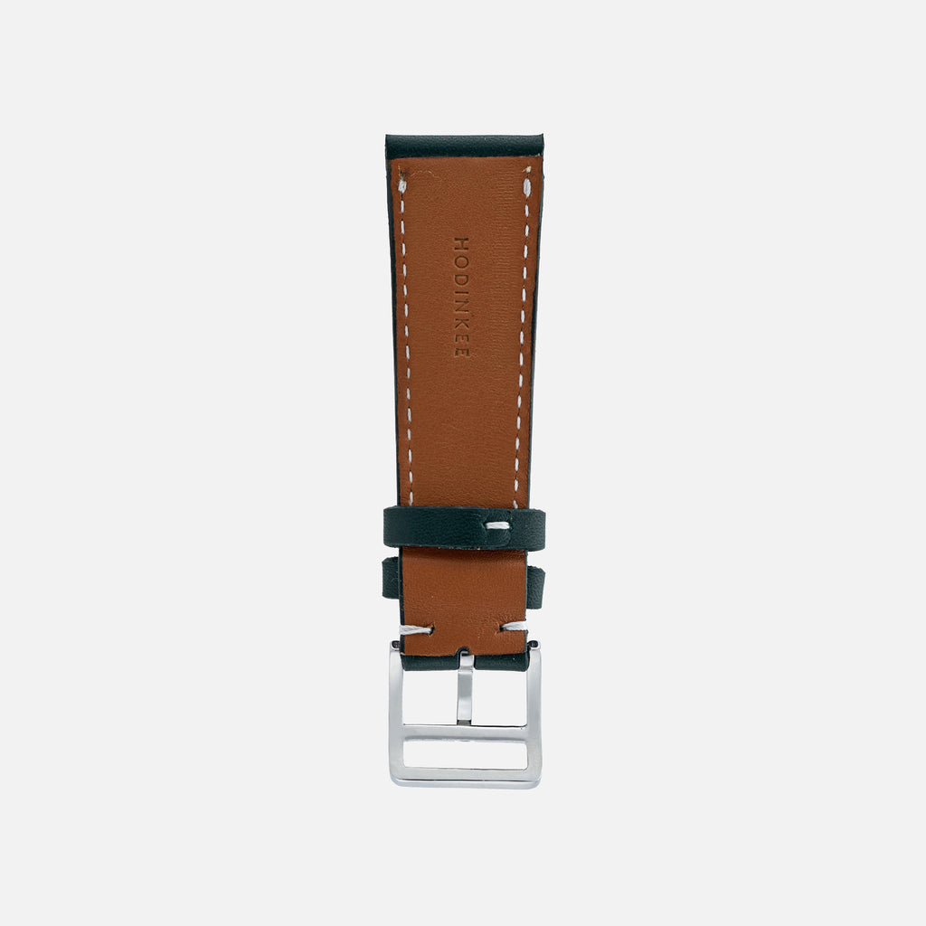 Smooth Ocean Blue-Green Calfskin Watch Strap