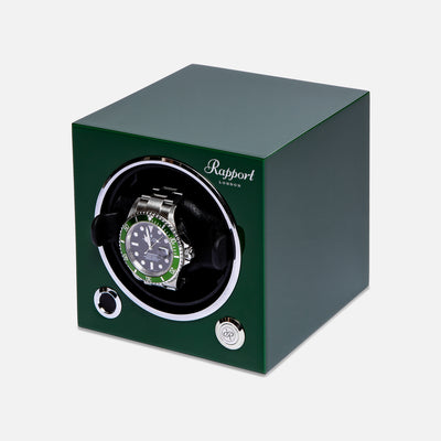 Evo Cube Watch Winder In Racing Green alternate image.