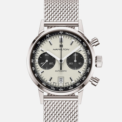Hamilton Intra-Matic Auto Chrono 'Panda' Dial On Bracelet