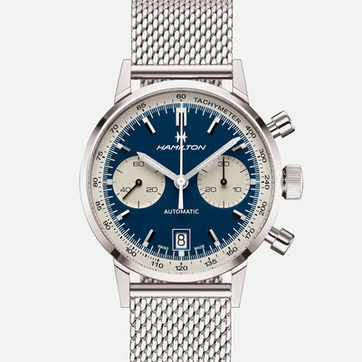 Hamilton Intra-Matic Auto Chrono Blue Dial On Bracelet