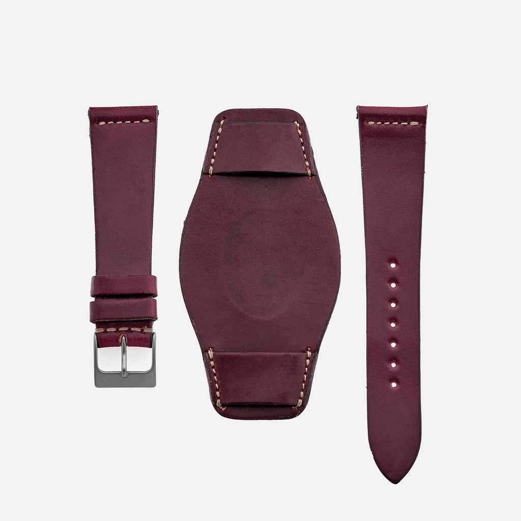 The Unlined Shell Cordovan Heaton Bund Strap In Color No. 4