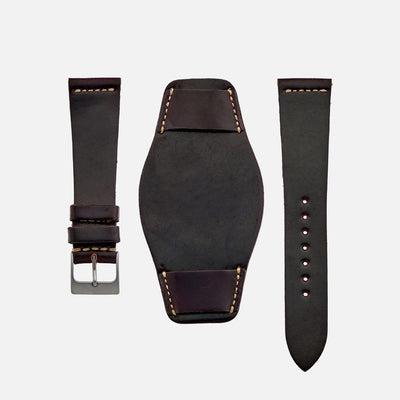 The Unlined Shell Cordovan Heaton Bund Strap In Color No. 8