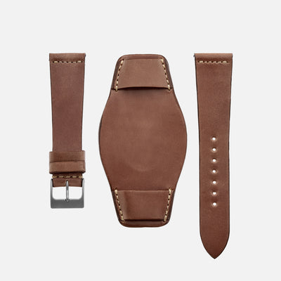 The Unlined Shell Cordovan Heaton Bund Strap In Natural