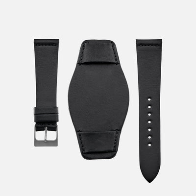 The Unlined Leather Heaton Bund Strap In Cooper Black