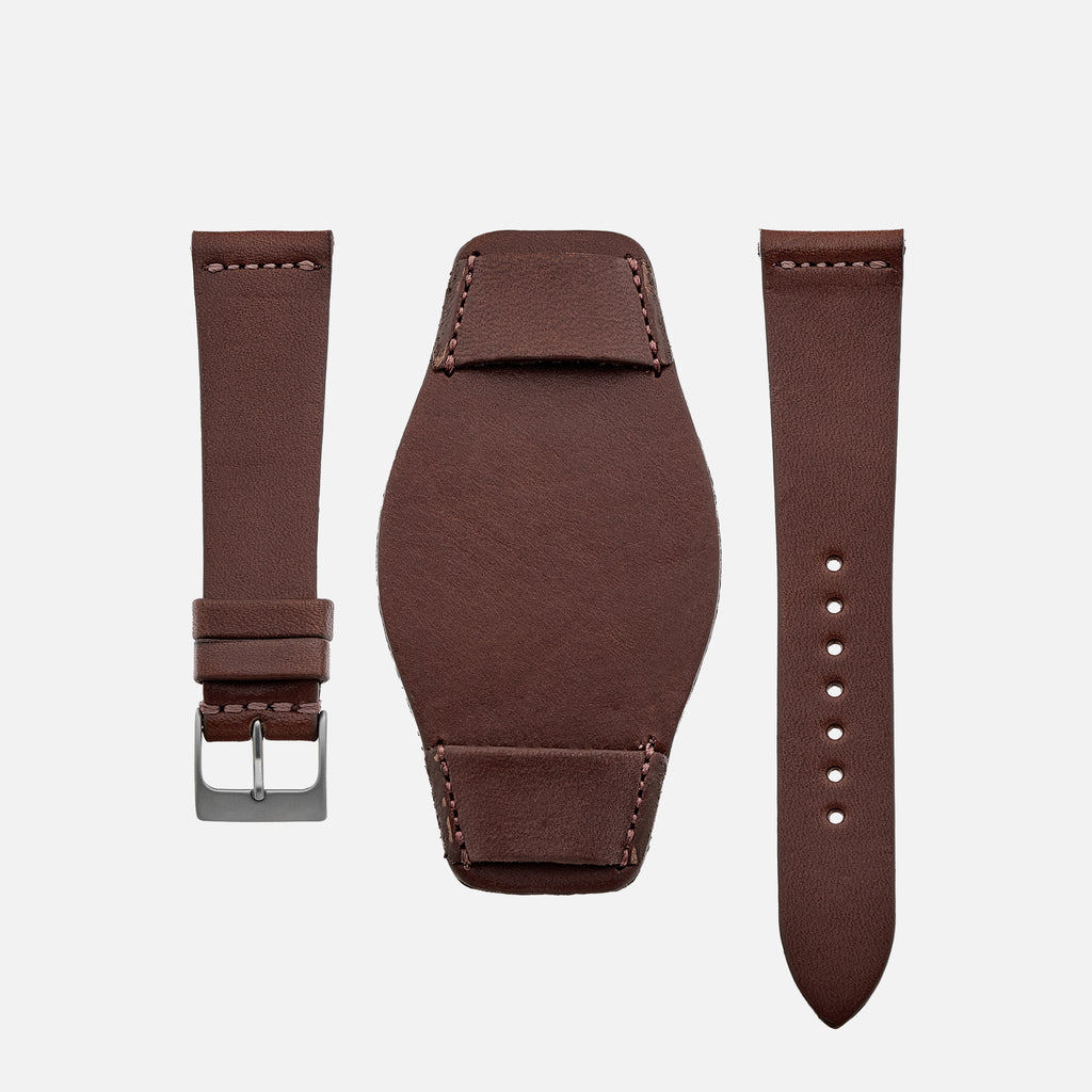 The Unlined Leather Heaton Bund Strap In Cooper Light Brown