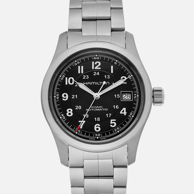 Hamilton Khaki Field Automatic 38mm Black Dial On Bracelet